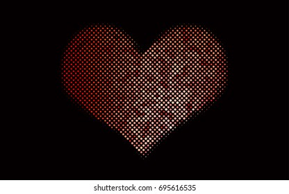 Dark Red vector pattern with colored spheres. Geometric sample of repeating circles on white background in halftone style.