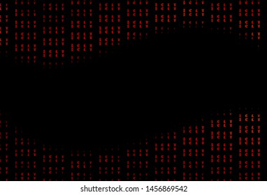 Dark Red vector pattern with EUR, JPY, GBP. Blurred design in with symbols of EUR, JPY, GBP. The pattern can be used as ads, poster, banner for payments.