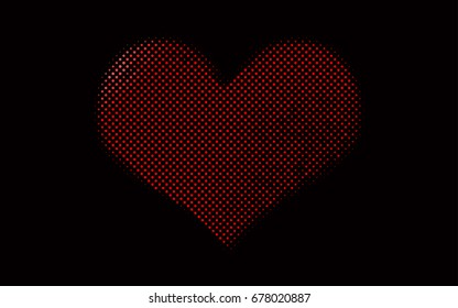 Dark Red vector red pattern of geometric circles, shapes. Colorful mosaic banner. Geometric background with colored disks.