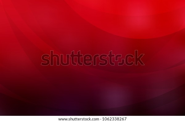 Dark Red vector pattern with lines, ovals. Blurred geometric sample with gradient bubbles.  A new texture for your  ad, booklets, leaflets.