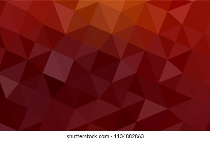 Dark Red vector polygon abstract layout. Shining polygonal illustration, which consist of triangles. That pattern can be used as a part of a brand book.