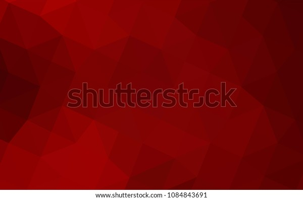 Dark Red vector polygonal background. Glitter abstract illustration with an elegant design. The best triangular design for your business.