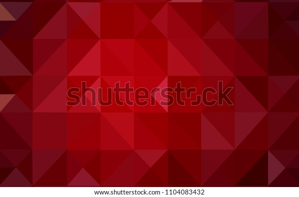 Dark Red vector triangle mosaic texture. Triangular geometric sample with gradient.  Triangular pattern for your business design.