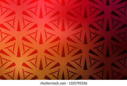 Dark Red, Yellow vector pattern with polygonal style. Decorative design in abstract style with triangles. Smart design for your adverts.