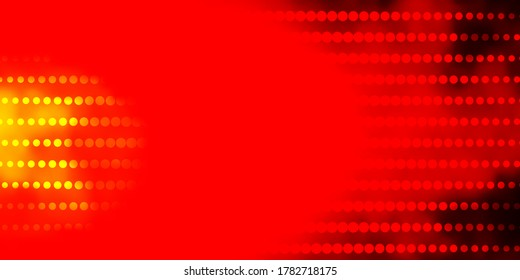 Dark Red, Yellow vector template with circles. Colorful illustration with gradient dots in nature style. Pattern for wallpapers, curtains.