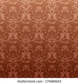 Dark repeating pattern in vintage style.