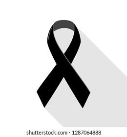 Dark ribbon R.I.P lines vector - Vector