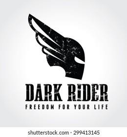 Dark Rider Automotive logo template