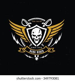 Dark Rider Racer Logo Template.