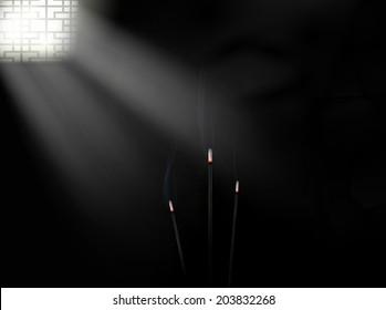 Dark room. Vector eps 10