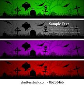 dark scary abstract halloween banners. Vector illustration