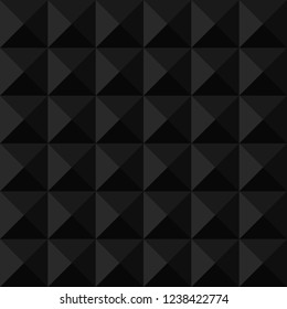 Dark seamless background with pyramid and triangle texture