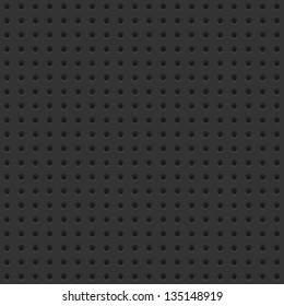 Dark seamless background tile with perforations.