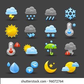 Dark series | weather icon set