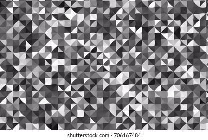 Dark Silver, Gray vector abstract mosaic pattern. Colorful illustration in abstract style with gradient. A completely new template for your business design.