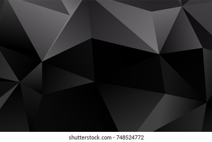 Dark Silver, Gray vector abstract mosaic background. Creative geometric illustration in Origami style with gradient. The textured pattern can be used for background.