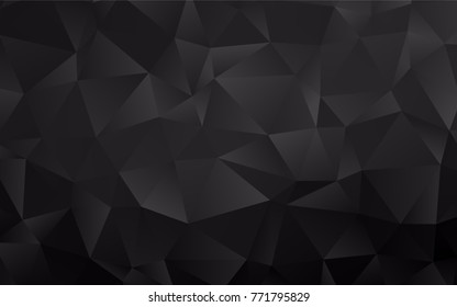 Dark Silver, Gray vector abstract polygonal pattern. A vague abstract illustration with gradient. The elegant pattern can be used as part of a brand book.