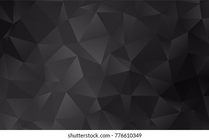 Dark Silver, Gray vector abstract polygonal background. Colorful illustration in abstract style with gradient. A new texture for your design.