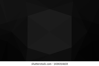 Dark Silver, Gray vector blurry hexagon template. Glitter abstract illustration with an elegant design. A completely new template for your business design.