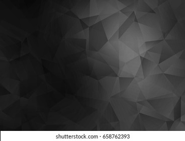Dark Silver, Gray vector blurry triangle template. Creative geometric illustration in Origami style with gradient. The polygonal design can be used for your web site.