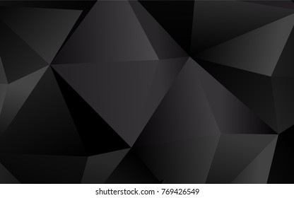 Dark Silver, Gray vector blurry triangle template. Glitter abstract illustration with an elegant design. Triangular pattern for your business design.