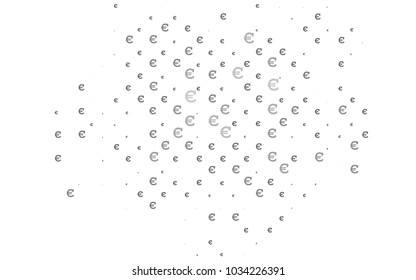Dark Silver, Gray vector cover with financial symbols. Abstract illustration with colored financial digital symbols. The pattern can be used for ad, booklets, leaflets of banks.