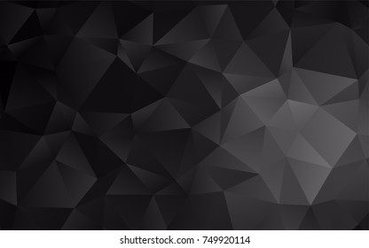 Dark Silver, Gray vector low poly pattern. A sample with polygonal shapes. The textured pattern can be used for background.