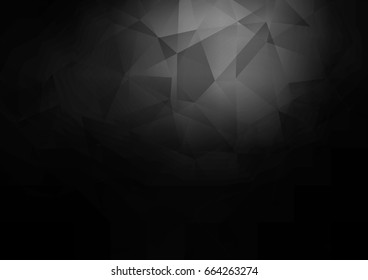 Dark Silver, Gray vector polygon abstract pattern. Geometric illustration in Origami style with gradient.  The elegant pattern can be used as part of a brand book.