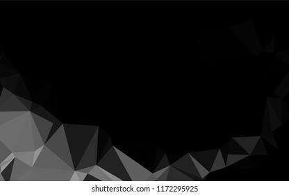 Dark Silver, Gray vector polygonal pattern. Shining illustration, which consist of triangles. Brand new style for your business design.