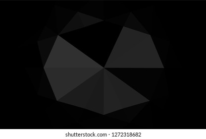 Dark Silver, Gray vector polygonal background. Colorful illustration in abstract style with gradient. Brand new design for your business.