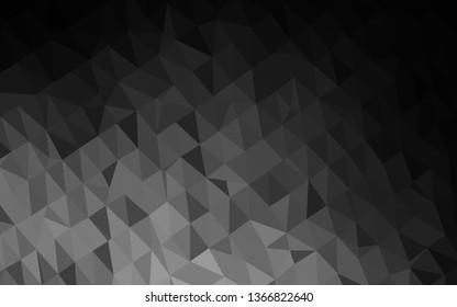 Dark Silver, Gray vector polygonal pattern. Colorful abstract illustration with gradient. New texture for your design.
