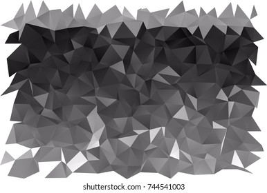 Dark Silver, Gray vector polygonal template. A completely new color illustration in a vague style. Brand-new design for your business.