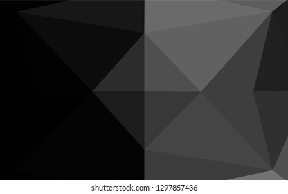 Dark Silver, Gray vector shining hexagonal template. Colorful illustration in abstract style with gradient. A new texture for your design.