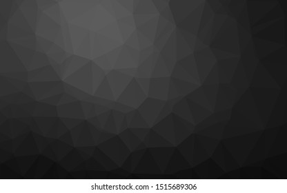 Dark Silver, Gray vector shining triangular background. Triangular geometric sample with gradient.  Triangular pattern for your business design.