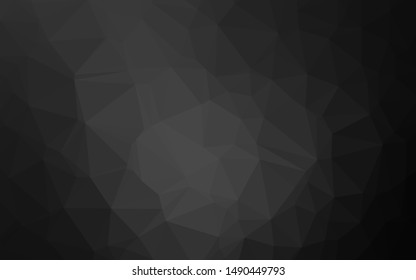 Dark Silver, Gray vector triangle mosaic cover. Shining colored illustration in a Brand new style. The best triangular design for your business.