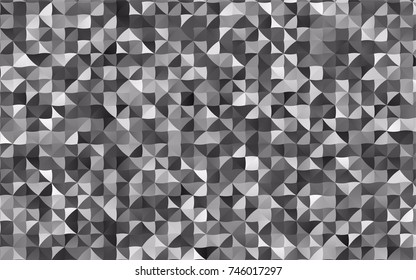 Dark Silver, Gray vector triangle mosaic background. Modern geometrical abstract illustration with gradient. The elegant pattern can be used as part of a brand book.