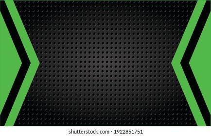 Dark Steel With Green Background Vector