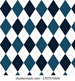 Dark Teal Diamond (Baklava Desen) Pattern Seampless
