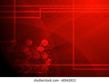 Dark tech background - eps 10 vector illustration