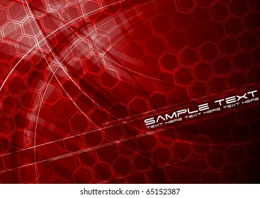 Dark technical background with hexagon texture - eps 10