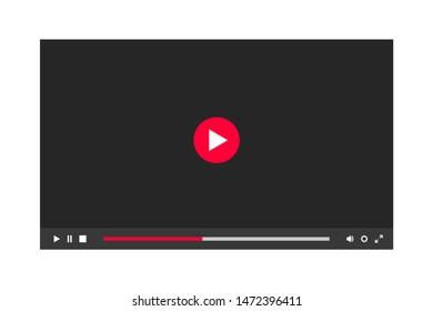 Dark theme of video player window in a night mode