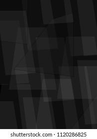 Dark tone geometric image of trapeziums. Vector background.