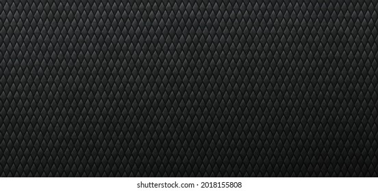 Dark tracery tips of sharp scales background. Metallic paling stripes in brutal black carbon tracery abstraction steel vector ornament