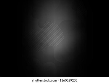 Dark vector cover with long lines. Decorative shining illustration with lines on abstract template. The pattern can be used as ads, poster, banner for commercial.