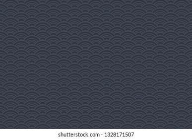 Dark vintage seamless backgrounds for luxury packaging design. Geometric pattern in black. Suitable for premium boxes of cosmetics, wine, jewelry. Elegant vector ornament set. Fabric print.