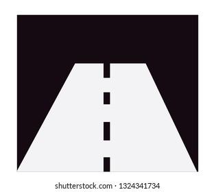 Dark walkway on white background.