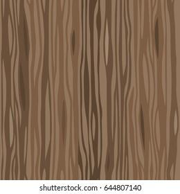 Dark wooden striped fiber textured seamless pattern. Vector background