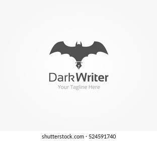 Dark Writer Logo Template