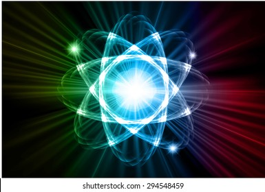 dark yellow blue red color Light Abstract Technology background for computer graphic website internet.circuit. vector illustration. Nuclear,proton,neutron, nucleus. atom. molecular.Spark ray beam aura