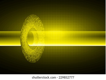 Dark yellow Light Abstract Technology background for computer graphic website internet and technology.